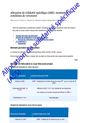 Allocation de solidarite sp